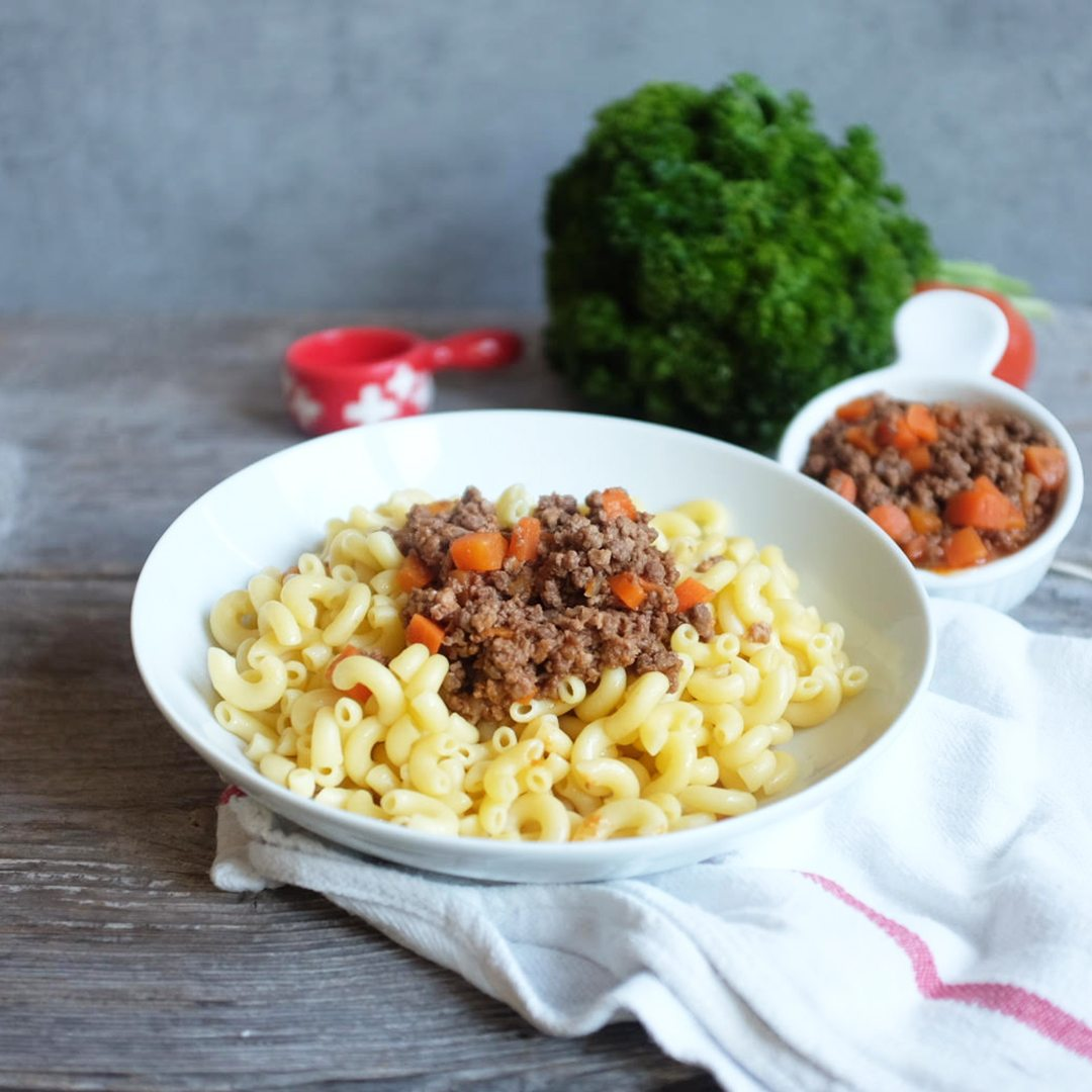 Dishes for Office-Cornettes minced meat