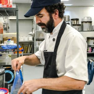 Cook in the Nusa kitchen in London