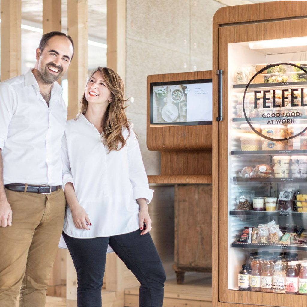 Daniela et Emanuel Steiner founded felfel to allow employees to eat healthy at work